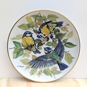 Vintage Bird Collectible Plate WWF Decorative